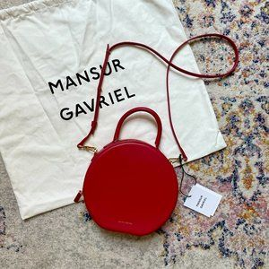 MANSUR GAVRIEL Calf Circle Crossbody - Red Flamma